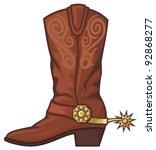 cowboy boot | Shutterstock .eps vector #92868277