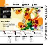 modern web page layout design   Shutterstock .eps vector #92868370