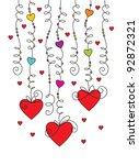 valentine greeting card 03 | Shutterstock .eps vector #92872321