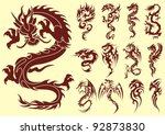 several types of stylized... | Shutterstock .eps vector #92873830