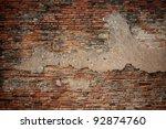 Grunge Dirty Old Brick Stone...