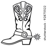 cowboy boot | Shutterstock .eps vector #92875522