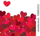 hearts. valentine card. vector... | Shutterstock .eps vector #92881012