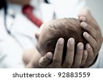 pediatrician holding a... | Shutterstock . vector #92883559