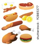 meat collection eps 8 vector