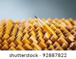 One Sharpened Pencil Standing...