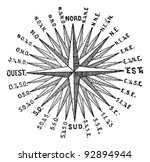 Compass Rose Or Windrose ...