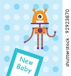 cute baby arrival card | Shutterstock .eps vector #92923870