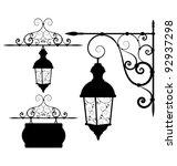 street lantern | Shutterstock .eps vector #92937298