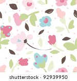 colorful tiny floral nature...   Shutterstock .eps vector #92939950