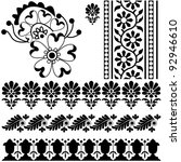 vector indian ornaments on... | Shutterstock .eps vector #92946610