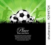 soccer players with ball on... | Shutterstock . vector #92949724