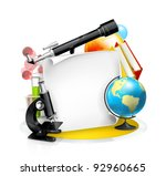 education and science frame ... | Shutterstock .eps vector #92960665