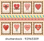 set of valentine's day love... | Shutterstock .eps vector #92965309