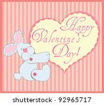 valentine greeting card with... | Shutterstock .eps vector #92965717