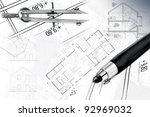 architectural project | Shutterstock . vector #92969032