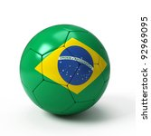 Soccer Ball With Brazilian Fla...