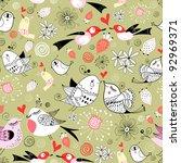 Pattern Of Love Birds