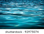 Beautiful Blue Water Surface As ...