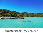 in the tropical sea view on... | Shutterstock . vector #92976097