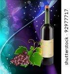 grape and bottle of wine | Shutterstock .eps vector #92977717