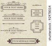 calligraphic elements and page... | Shutterstock .eps vector #92978014