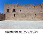 Grand Master Palace in Rhodes town, Greece - stock photo