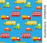 transportation seamless pattern   Shutterstock .eps vector #92980528