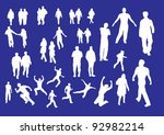 selection of people outline... | Shutterstock .eps vector #92982214