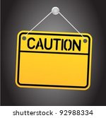 caution sign | Shutterstock .eps vector #92988334