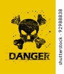 grunge high voltage sign | Shutterstock .eps vector #92988838