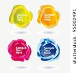speech bubble icons. vector... | Shutterstock .eps vector #93002491