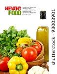 fresh vegetables on the white... | Shutterstock . vector #93003901