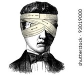 head bandage   vintage engraved ... | Shutterstock .eps vector #93019000