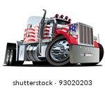 vector cartoon semi truck   Shutterstock .eps vector #93020203