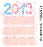 Calendar Of Year 2013 With Cut...