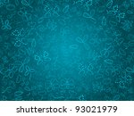 seamless doodle floral texture. ... | Shutterstock .eps vector #93021979