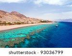 panorama coastline of red sea... | Shutterstock . vector #93036799