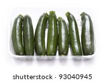 courgette or zucchini on a white background - stock photo