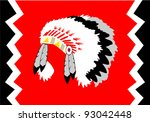 indian head dress | Shutterstock .eps vector #93042448