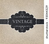 retro styled card with old... | Shutterstock .eps vector #93044329
