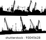 set of two panoramas of... | Shutterstock .eps vector #93045628