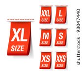 size clothing labels. vector. | Shutterstock .eps vector #93047440