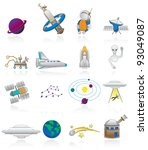 space travel | Shutterstock .eps vector #93049087