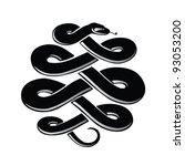 snake symbol   black vector...   Shutterstock .eps vector #93053200