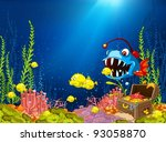 ocean underwater cartoon. coral ...