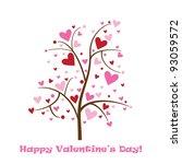 happy valentine's day card | Shutterstock .eps vector #93059572