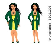 girl before and after diet | Shutterstock .eps vector #93061309