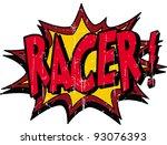 racer sign | Shutterstock .eps vector #93076393