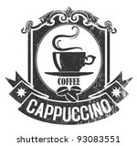 coffee stamp 2 | Shutterstock .eps vector #93083551
